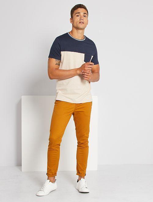 Camiseta de rayas                                         BLANCO