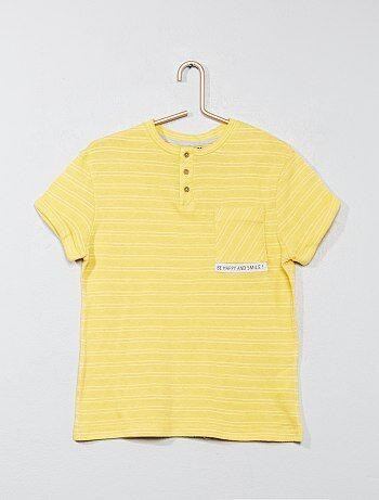 Camiseta de rayas con cuello panadero - Kiabi