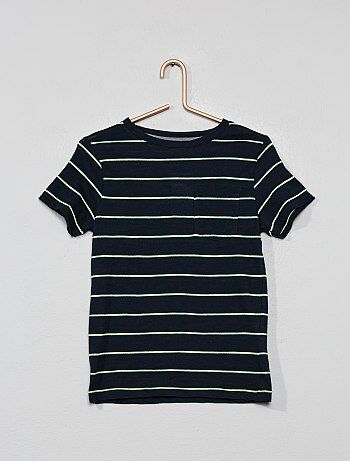 e5d6e9d8be Camiseta de rayas de punto flameado - Kiabi