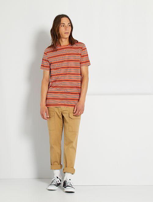 Camiseta de rayas eco-concepción                                                                                         NARANJA