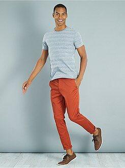 Camisetas azul - Camiseta de rayas finas