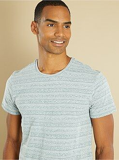 Hombre Camiseta de rayas finas