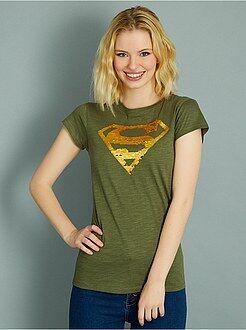 Mujer - Camiseta de 'Superman' con lentejuelas reversibles - Kiabi