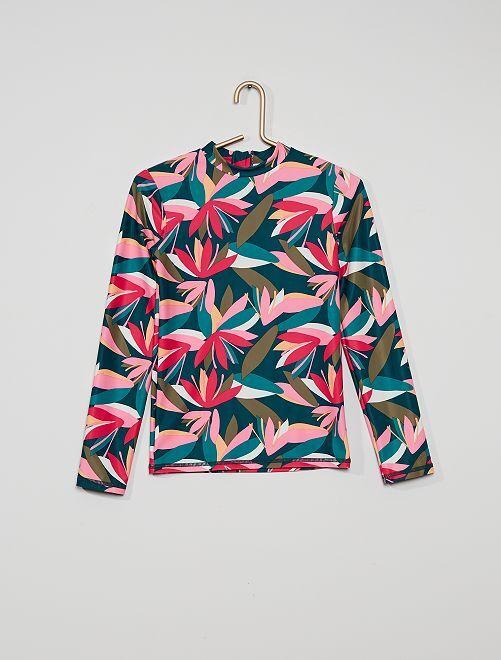 Camiseta de surf anti UV                             VERDE