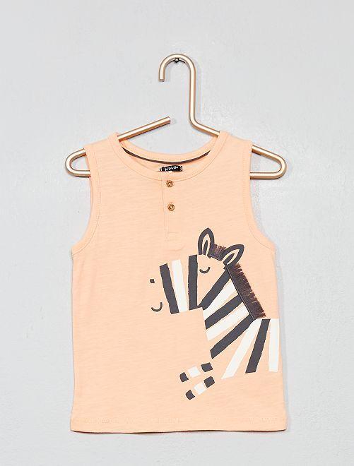 Camiseta de tirantes 'cebra'                             NARANJA Bebé niño