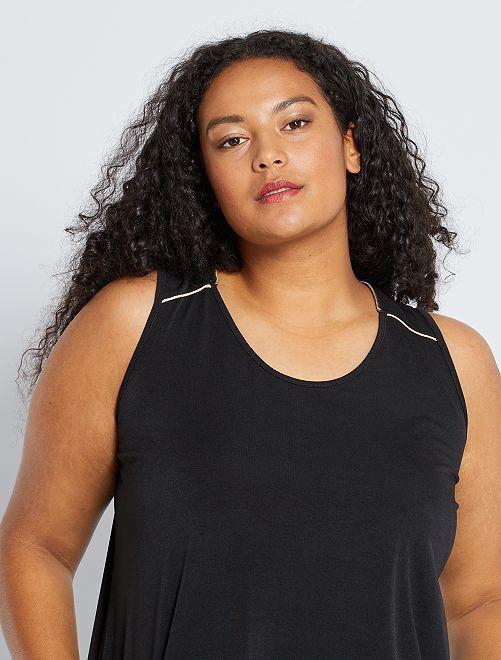 Camiseta de tirantes con cremallera trasera                             negro