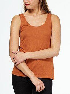 Camisetas - Camiseta de tirantes cuello U