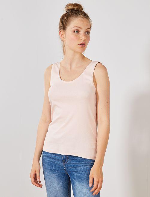 Camiseta de tirantes cuello U                                                                                                                 ROSA Mujer talla 34 a 48