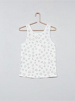 Camisetas - Camiseta de tirantes de algodón puro - Kiabi