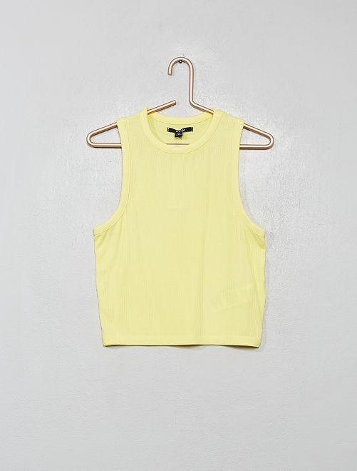 Camiseta de tirantes de punto de canalé                                                                             amarillo