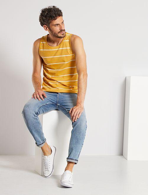Camiseta de tirantes de rayas                                                                 a rayas amarillo miel