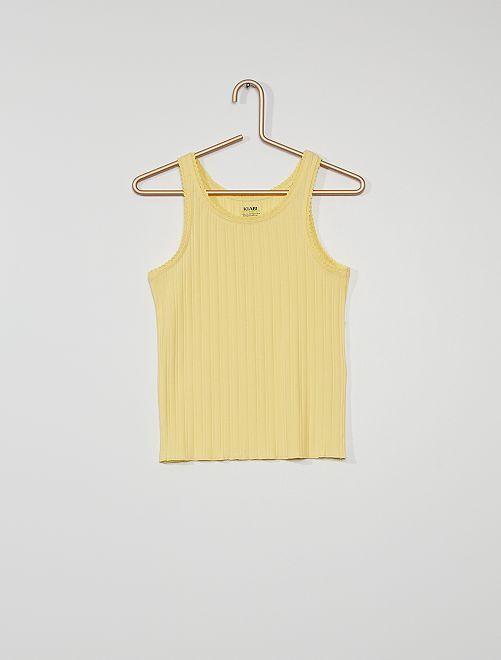 Camiseta de tirantes eco-concepción                                                                 amarillo suave