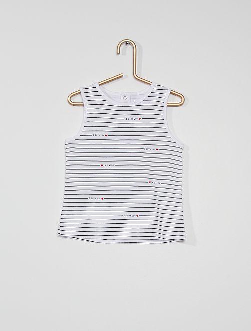 Camiseta de tirantes eco-concepción                                                                                                     BLANCO