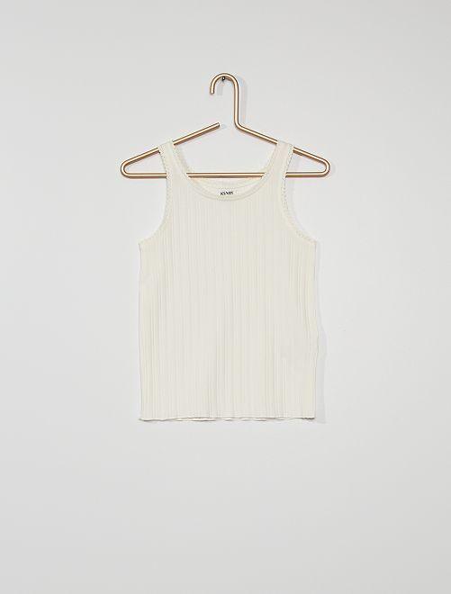 Camiseta de tirantes eco-concepción                                                                 blanco nieve