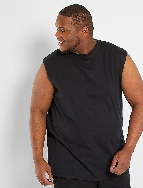 Camiseta de tirantes eco-concepción                                         negro