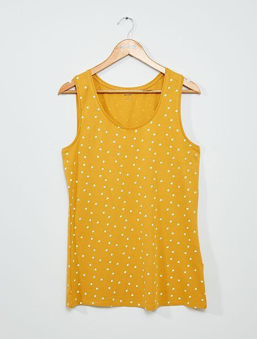 Camiseta de tirantes estampada                                                                                                                             AMARILLO