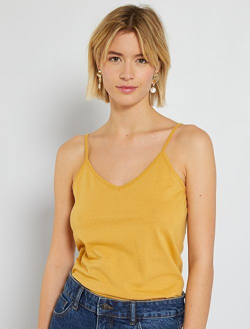 Camiseta de tirantes finos                                                                                         AMARILLO