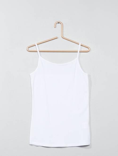 Camiseta de tirantes finos                     blanco Joven niña
