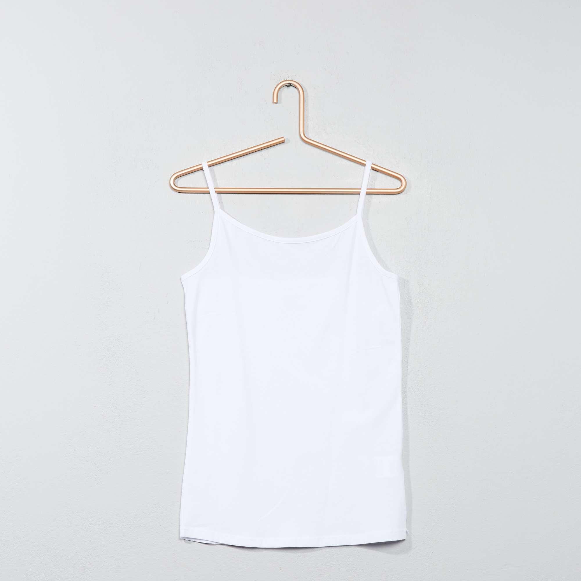 236cea0cfec0 Camiseta de tirantes finos Joven niña - blanco - Kiabi - 3,00€