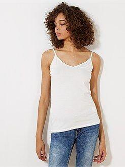 Mujer Camiseta de tirantes finos