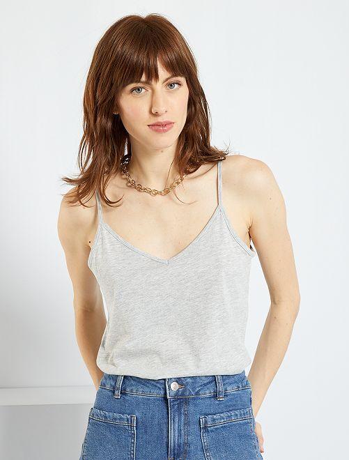 Camiseta de tirantes finos                                                                             gris claro