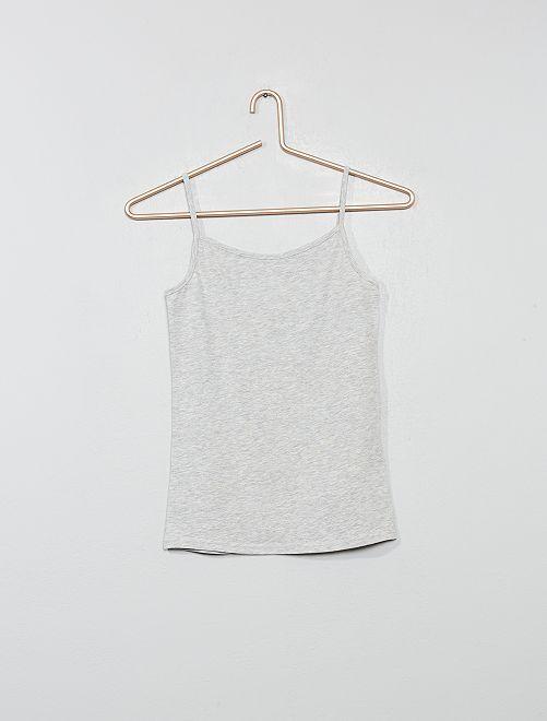 Camiseta de tirantes finos                                                     GRIS Joven niña