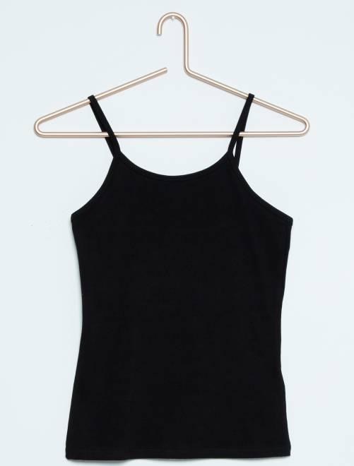 Camiseta de tirantes finos                                                     negro Joven niña