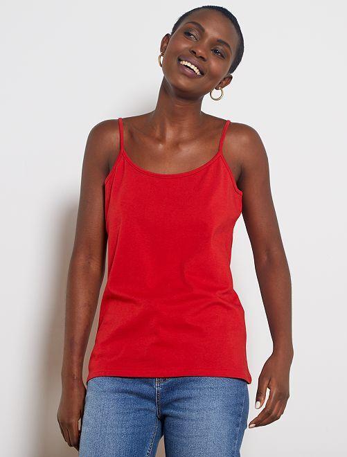 Camiseta de tirantes finos                                                                 rojo bombero
