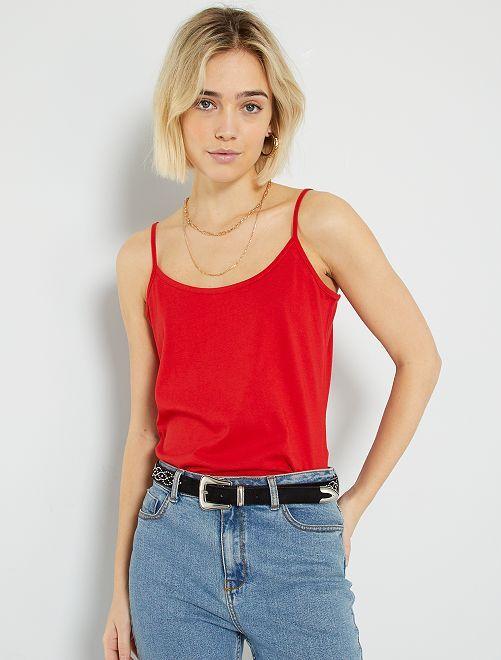 Camiseta de tirantes finos                                                                                         rojo
