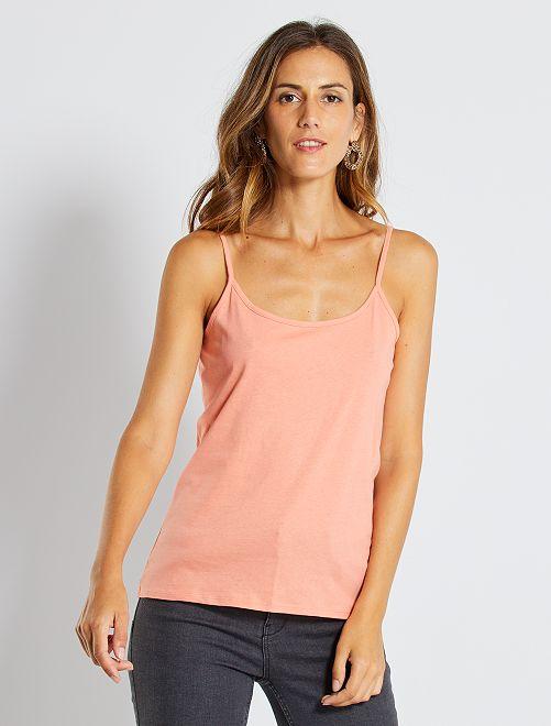 Camiseta de tirantes finos                                                                                                     rosa coral