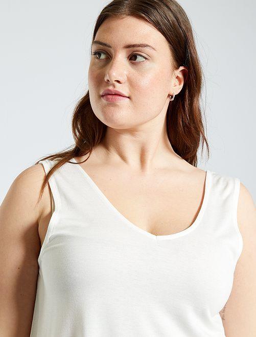 Camiseta de tirantes por delante y por detrás                                                     blanco nieve