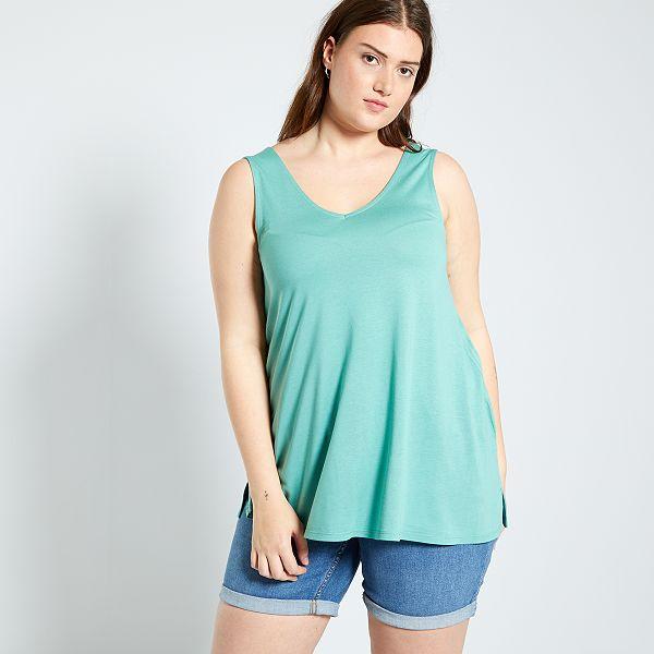 Camiseta De Tirantes Por Delante Y Por Detras Tallas Grandes Mujer Kiabi 8 00