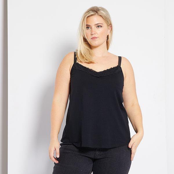 Camiseta De Tirantes Posoperatorio Tallas Grandes Mujer Negro Kiabi 8 00