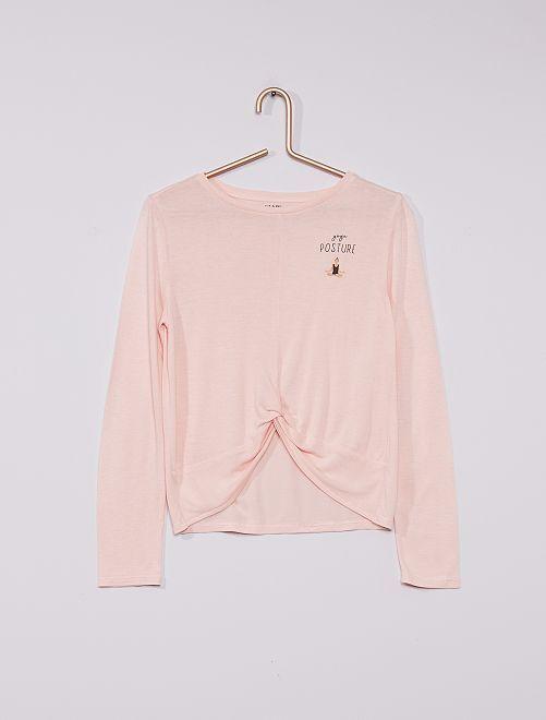 Camiseta de yoga                                         ROSA