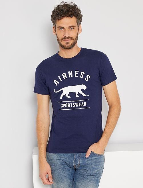 Camiseta deportiva 'Airness'                             azul marino