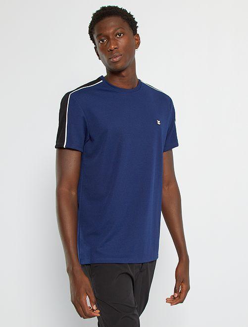 Camiseta deportiva de piqué                                         azul oscuro