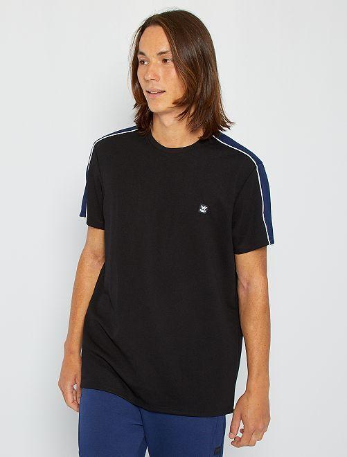 Camiseta deportiva de piqué                                         negro