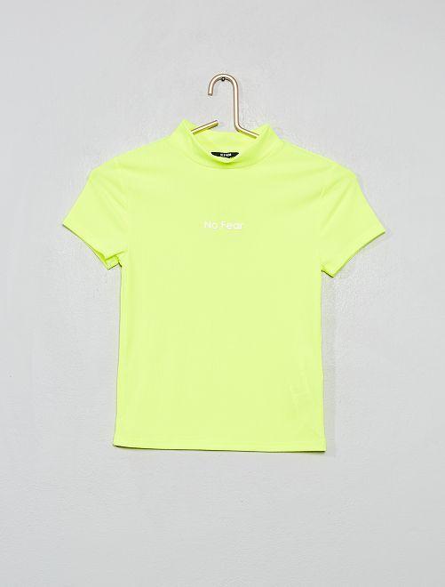 Camiseta deportiva de punto de canalé                                         AMARILLO