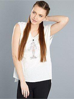 Mujer Camiseta deportiva estampada