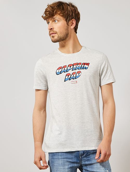 Camiseta Día del Padre 'Marvel'                                 GRIS Hombre