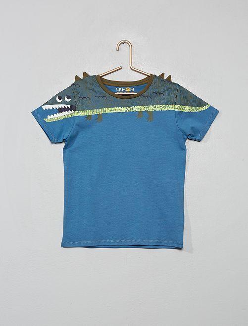 Camiseta 'dinosaurio'                                         azul