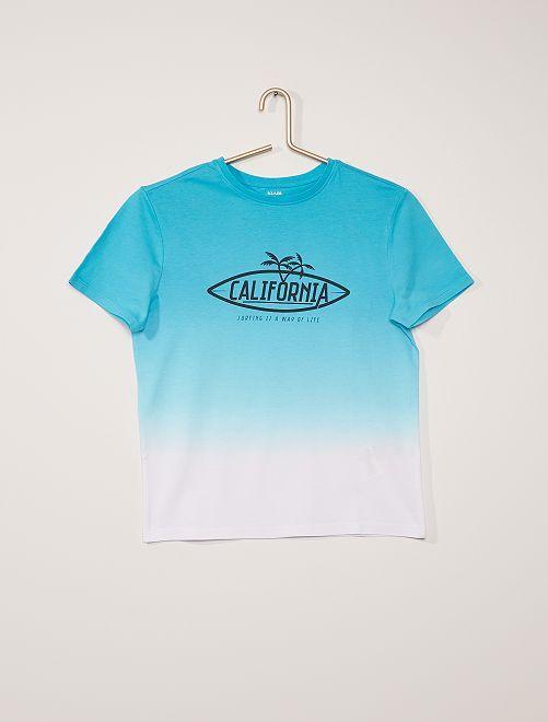 Camiseta dip dye                                                                 AZUL