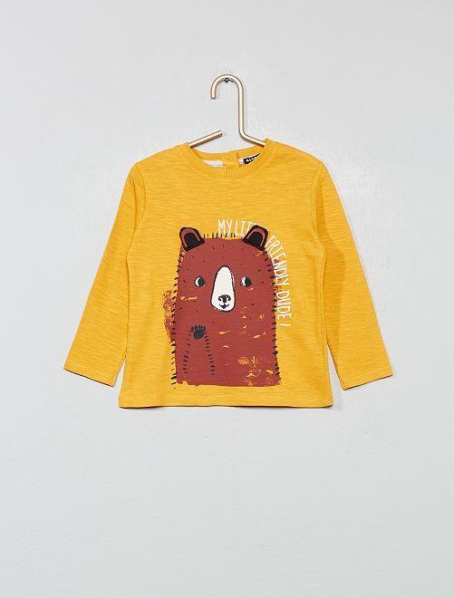 Camiseta divertida de punto                                                     AMARILLO Bebé niño