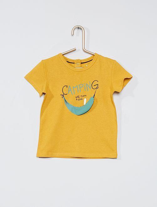 Camiseta divertida eco-concepción                                                     AMARILLO
