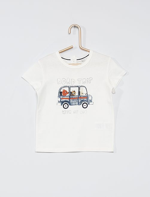 Camiseta divertida eco-concepción                                                     BLANCO