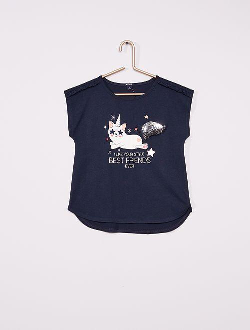 Camiseta divertida                                         PURPURA
