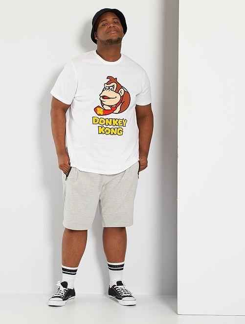 Camiseta 'Donkey Kong'                             blanco