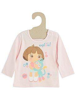 Niño 0-36 meses Camiseta 'Dora' de algodón