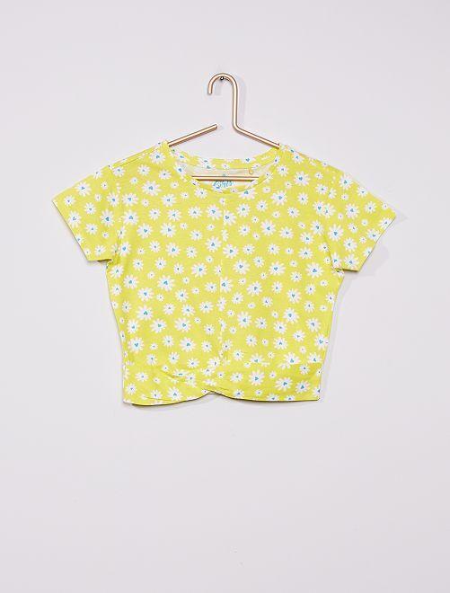 Camiseta drapeada                                         AMARILLO