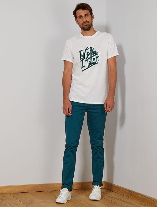 Camiseta eco-concepción +1,90 m                                         BLANCO